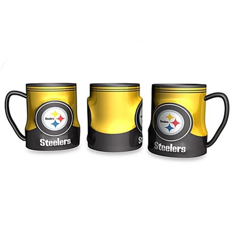 bed bath and beyond pittsburgh pittsburgh steelers 18 oz sculpted team coffee mug bed
