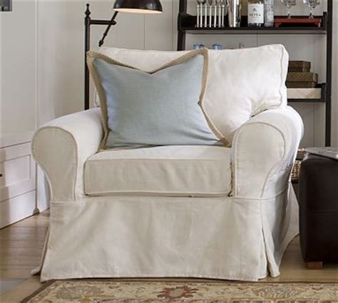 white armchair slipcover pb basic slipcovered armchair slipcover box performance