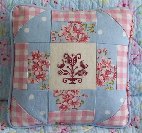 Shabby Chic Patchwork - country patchwork cushion shabby chic by