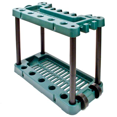 Garden Tool Storage Rack by Garden Tool Storage Rack Holder On Wheels Shed Gardening