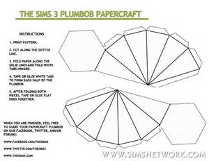 plumbob papercraft snw simsnetwork com