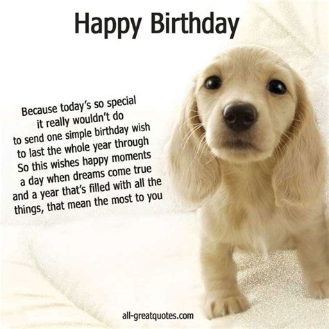 printable happy birthday cards from the dog happy birthday cards cute puppy picture my better half