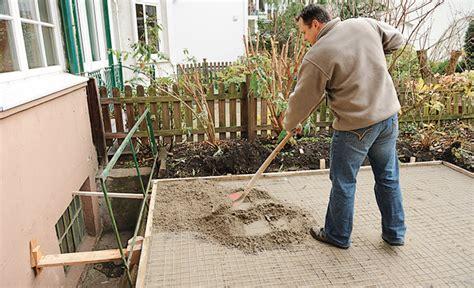 terrasse fundament fundamente fundamente selbst de