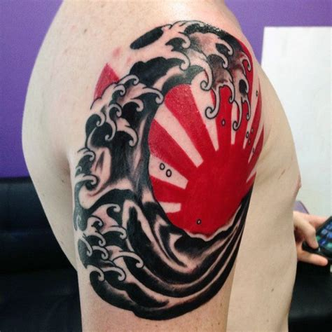 black and red tattoos for men 70 sun designs for a symbol of and light