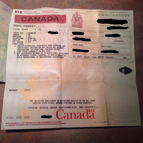 Work Permit After Mba In Canada by Activating Our Canadian Work Permits Brown Travels
