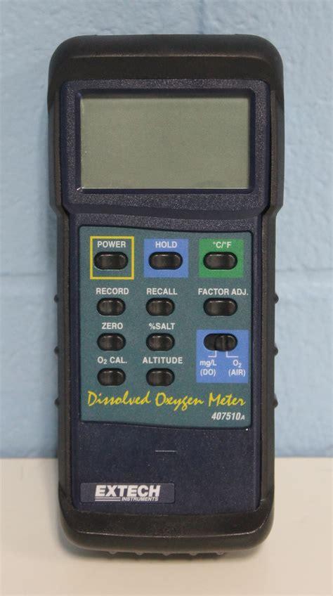 Oxygen Meter refurbished extech instruments 407510 heavy duty dissolved