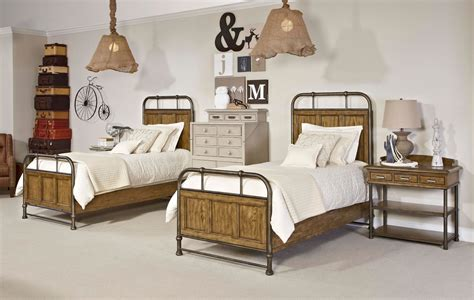 Metal And Wood Bedroom Furniture by New Vintage Brown Youth Metal Wood Bedstead Bedroom Set