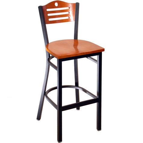 Metal Bar Stools With Backs Interchangeable Back Metal Bar Stool With Slats Circle
