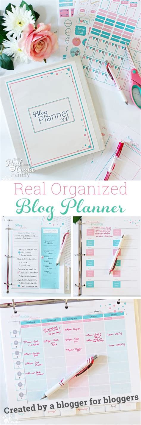 printable blog planner 2016 real organized blog editorial calendar and printable planner