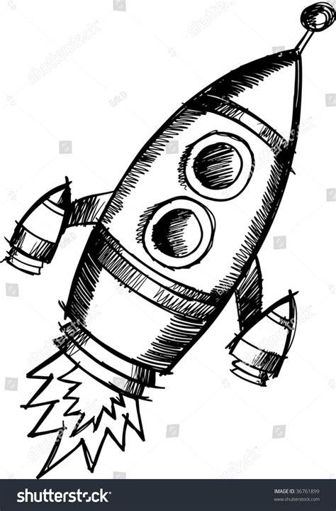 doodle how to make rocket doodle sketchy rocket vector illustration 36761899