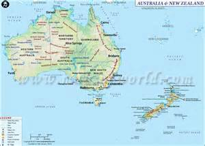 map of australia and nz map of australia and new zealand maps map