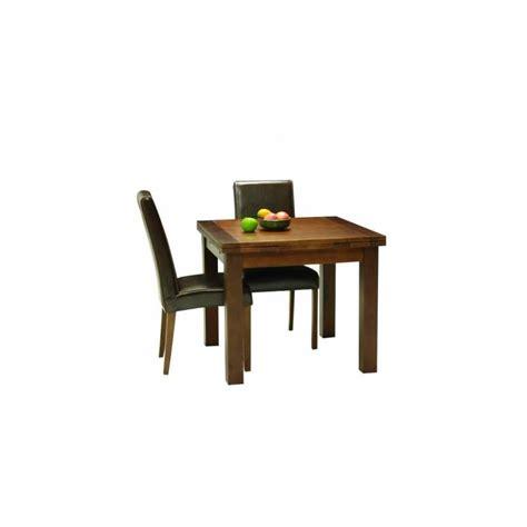 table de salle a manger carree en bois extensible cafe lina 90