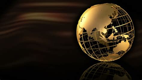 stock video  gold globe spin p hd stock video