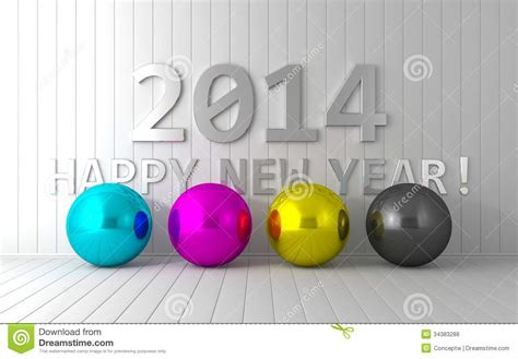 new year cmyk new year 2014 royalty free stock photos image 34383288