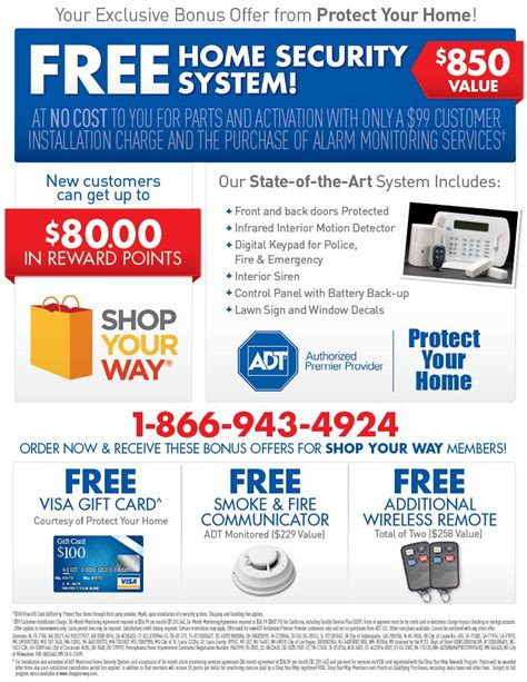 adt monitored security deals for shop your way