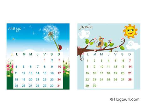 Calendario Mes De Junio 2015 Calendario De Mesa 2015 Meses De Mayo Y Junio En