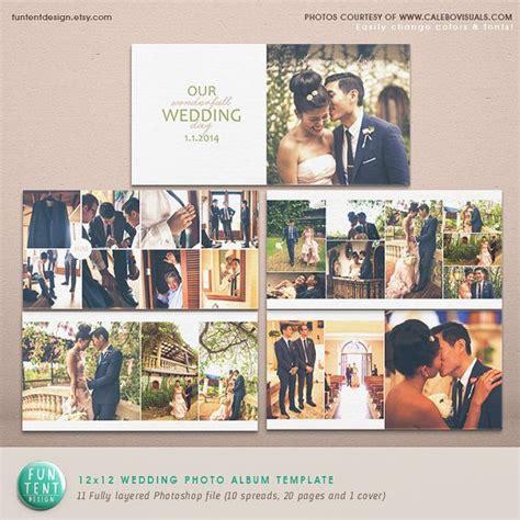 wedding layout design photoshop wedding album photoshop template modern clean by