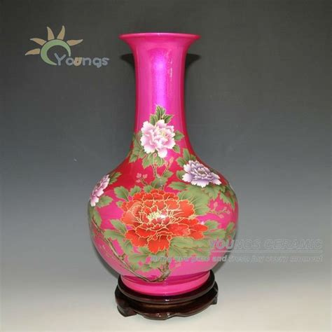 Pink Vases Wholesale by 2012 Pink Glazed Peony Flower Butterfly Ceramic