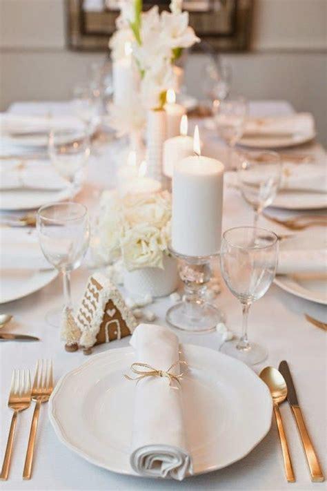 tavole apparecchiate eleganti natale in tavola idee fai da te segnaposti centrotavola e