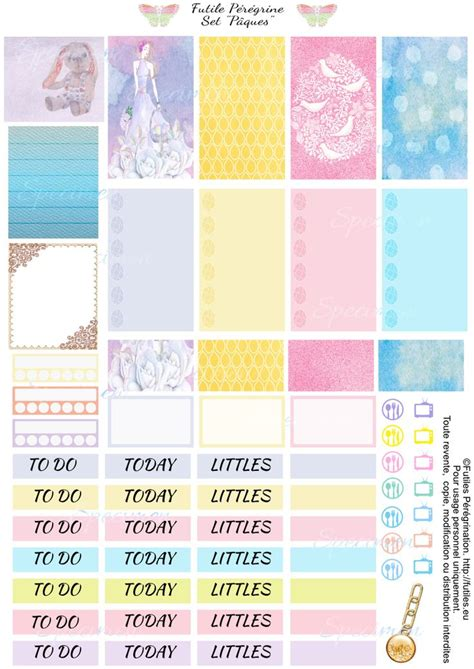 free printable easter planner free printable easter planner stickers page one from