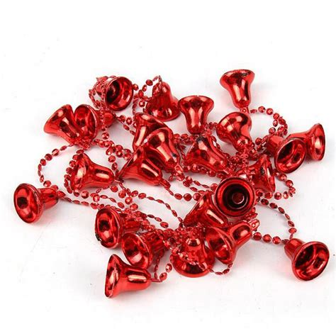 tinsel string 1 5m bell bead garland tree tinsel string chain