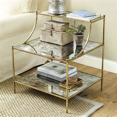 gold and glass end table mod metallic furniture favorites centsational style