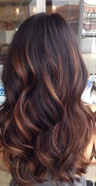 brunette  auburn balayage  gorgeous brown color