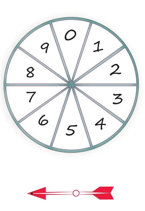 printable spinner with numbers 1 10 ti aie using number games developing number sense view
