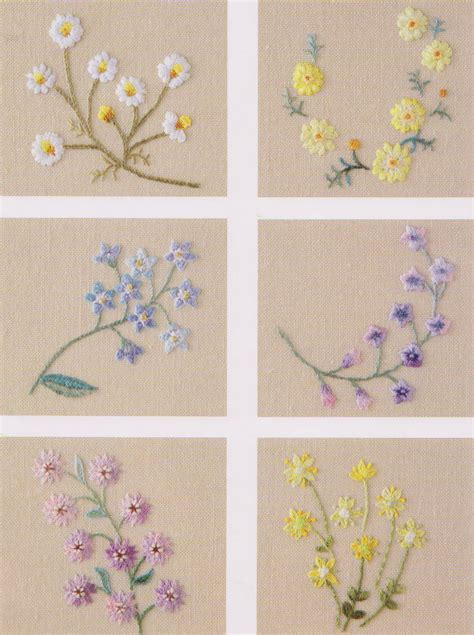 flower pattern for applique flower in my garden hand embroidery stitch sewing applique