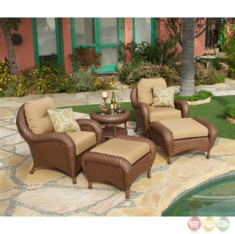 villanova 5pc weather resistant woven outdoor club chair