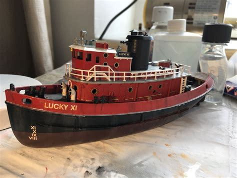 tugboat lucky xi harbour tug boat lucky xi 1 108 revell 2016