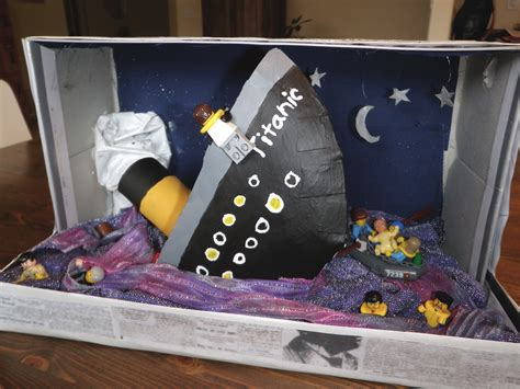 shoe box book report ideas titanic diorama project with lego cast crew noelle o