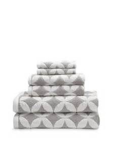 grey white patterned towels luxor linens via gilt