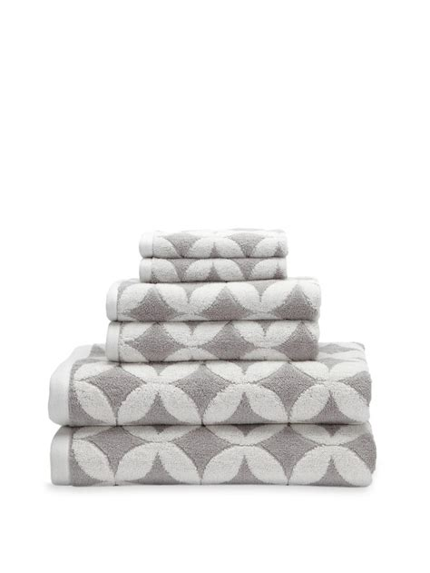 patterned towels for bathroom grey white patterned towels luxor linens via gilt