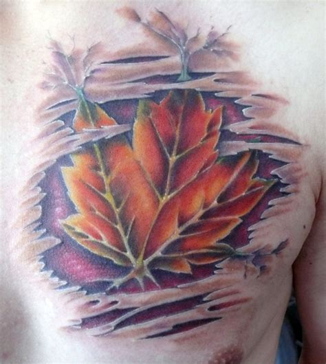 tattoo leaves chest leaf chest tattoo design for men 187 tattoo ideas
