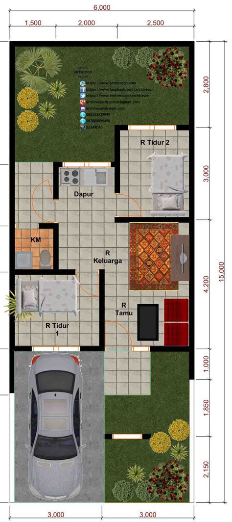layout rumah sehat desain perumahan minimalis perumahan graha purwosari