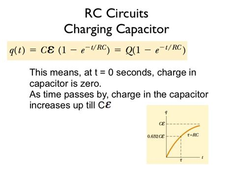 capacitor equation for charge rc and rl circuits