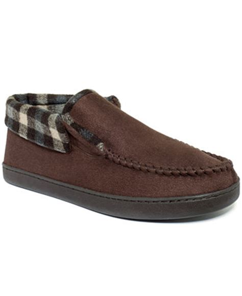 club room slippers club room s slippers jacob suede bootie shoes