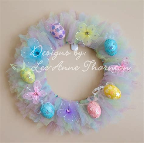 Hello Flower Tule the journey easter tulle wreath