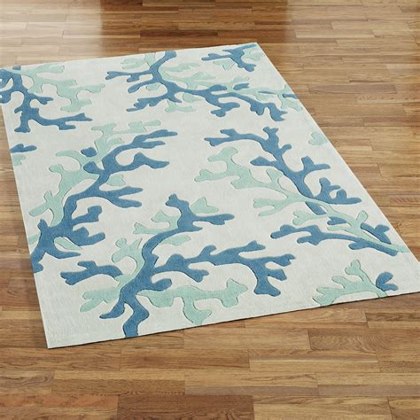 themed rugs coral fixation area rug