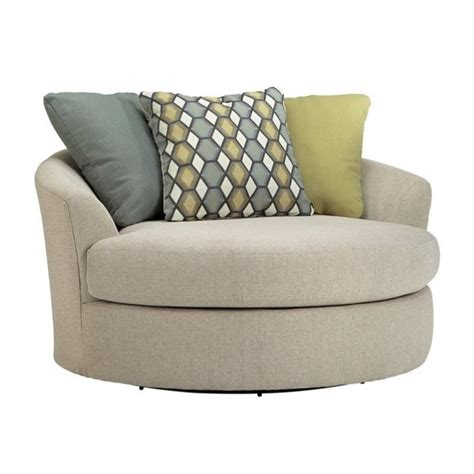 Ashley Casheral Fabric Oversized Swivel Accent Chair in