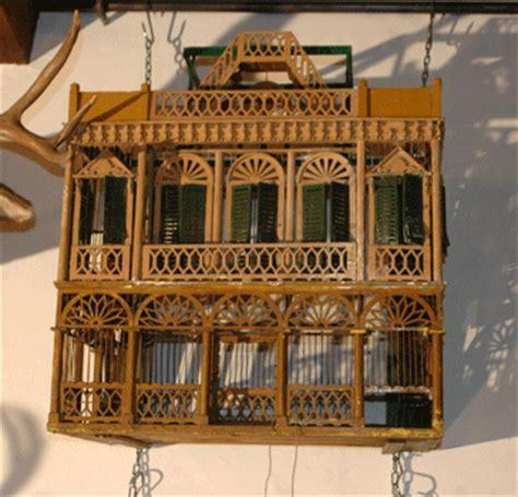 gabbie uccelli antiche antica gabbia in legno a forma di casa antiquariato