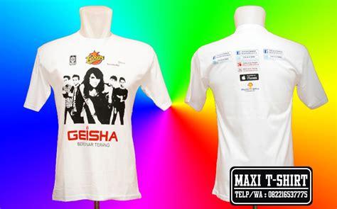 Kaos Geisha 3 Nm31q pusat pembuatan kemeja bordir bandung