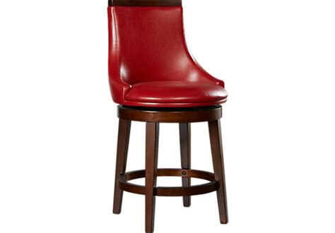 red counter height bar stools griffin red upholstered swivel counter height stool