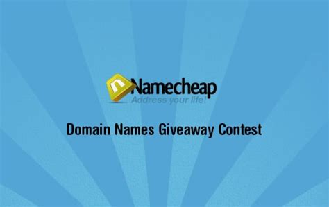 Domain Name Giveaway - giveaway 3 top level domain names from namecheap