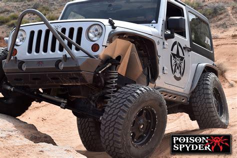 spyder jeep jeep wrangler jk front inner fenders psc17 02 080 poison