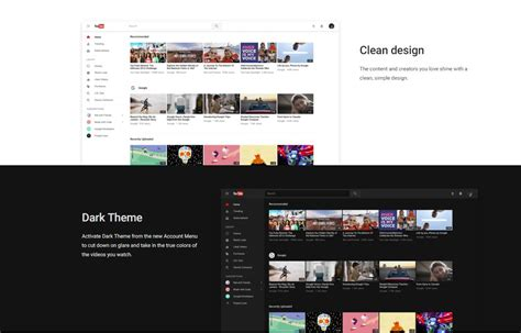 new youtube layout android try new youtube material design including dark theme as