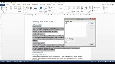 Word Insert Section by Table Of Contents In Word Toc For Each Section