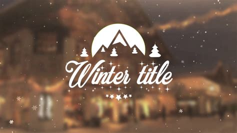 Winter Title Apple Motion And Final Cut Pro X Template Storyblocks Video Cut Title Templates