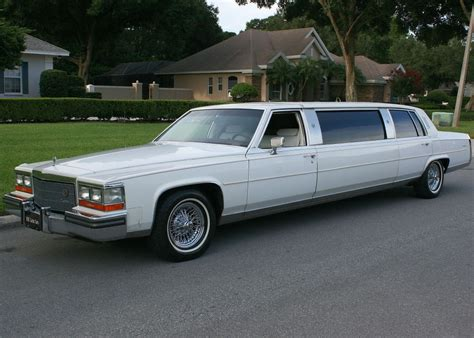 cadillac limousines 1986 cadillac fleetwood brougham d elegance stretch limo